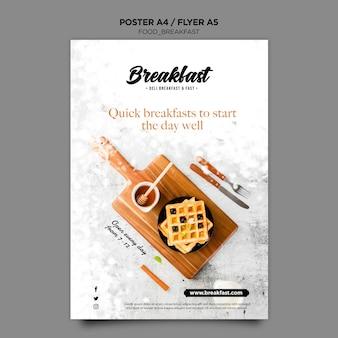 Modelo de cartaz - conceito de café da manhã