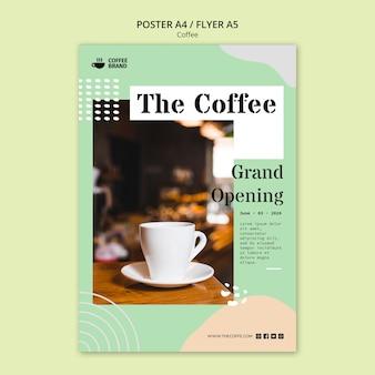 Modelo de cartaz - conceito de café