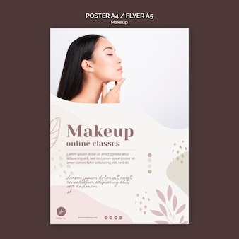 Modelo de cartaz - conceito de maquiagem