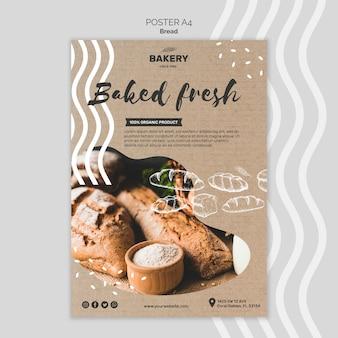 Modelo de cartaz - conceito de pão