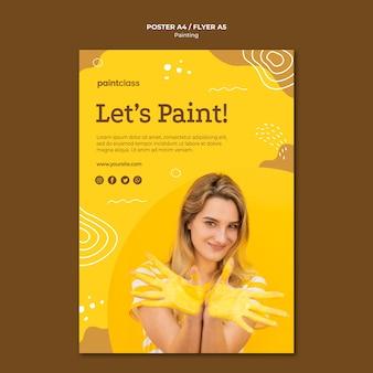 Modelo de cartaz - conceito de pintura