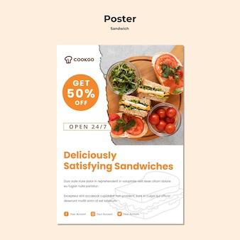 Modelo de cartaz - conceito de sanduíche