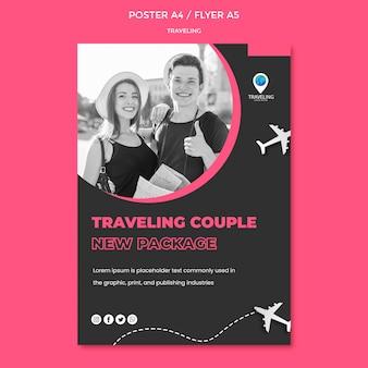Modelo de cartaz - conceito de viagem