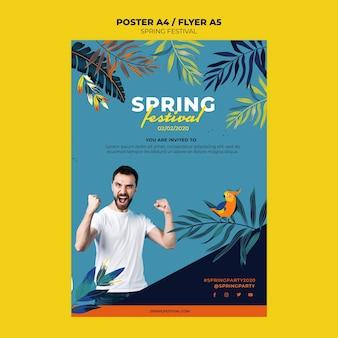 Modelo de cartaz criativo primavera