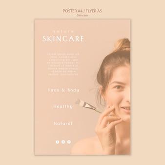 Modelo de cartaz - cuidados com a pele
