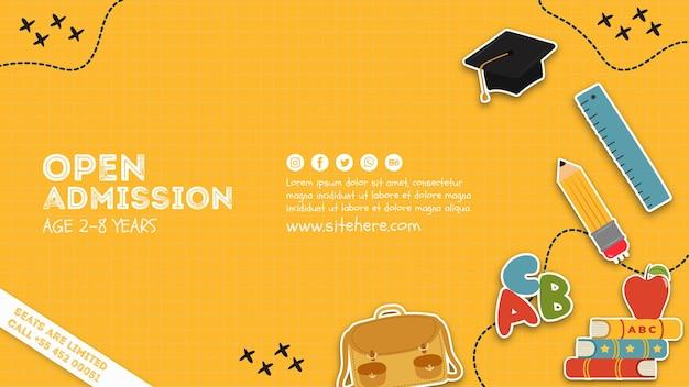 Modelo de cartaz de admissão aberta criativa