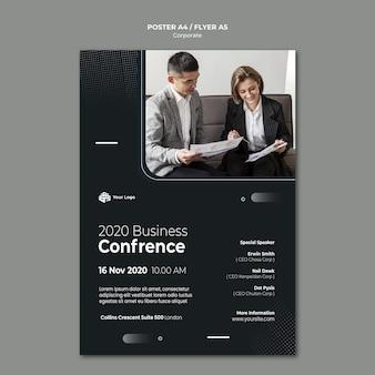Modelo de cartaz de anúncio corporativo