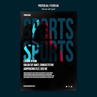 Modelo de cartaz de anúncio de esporte