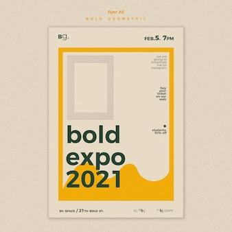 Modelo de cartaz de anúncio de evento de exposição