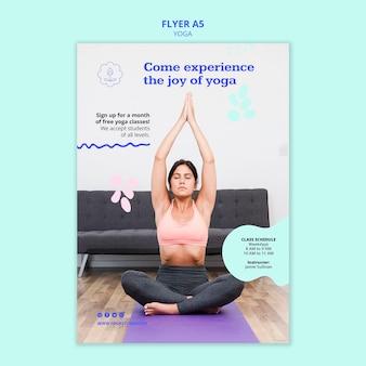 Modelo de cartaz de anúncio de ioga