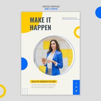 Modelo de cartaz de anúncio de negócios em memphis