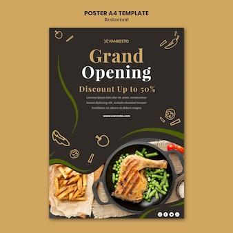 Modelo de cartaz de anúncio de restaurante