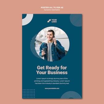 Modelo de cartaz de anúncio empresarial