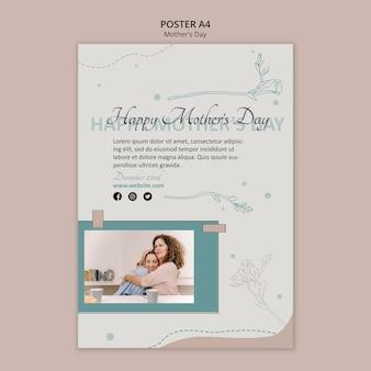 Modelo de cartaz de anúncio para o dia das mães