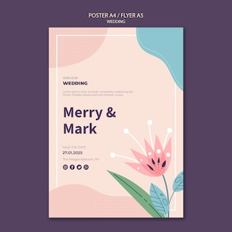 Modelo de cartaz de casamento