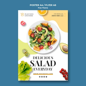 Modelo de cartaz de comida saudável