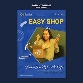 Modelo de cartaz de compras online