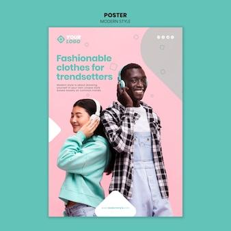 Modelo de cartaz de conceito de estilo moderno