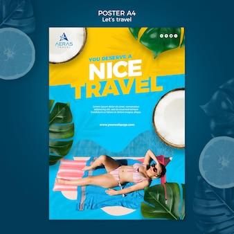 Modelo de cartaz de conceito de viagens