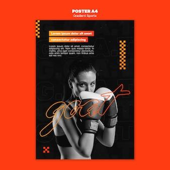 Modelo de cartaz de esportes de luta