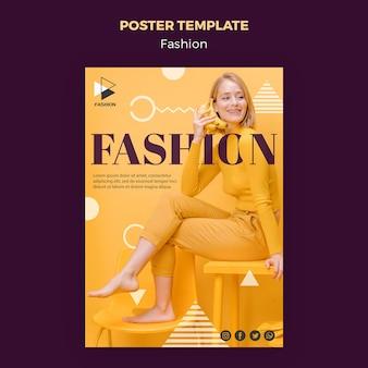 Modelo de cartaz de estilo de moda