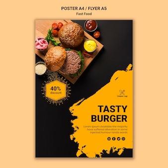 Modelo de cartaz de fast-food