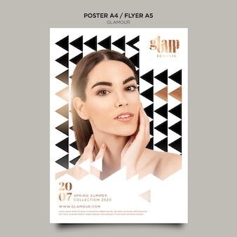 Modelo de cartaz de glamour moderno