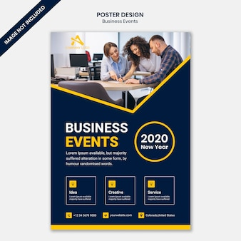 Modelo de cartaz de negócios corporativos