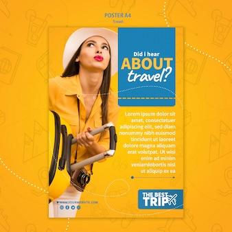 Modelo de cartaz de promoção de viagens