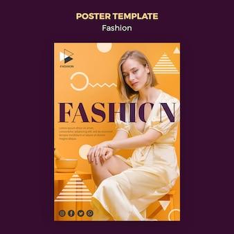 Modelo de cartaz de roupas da moda