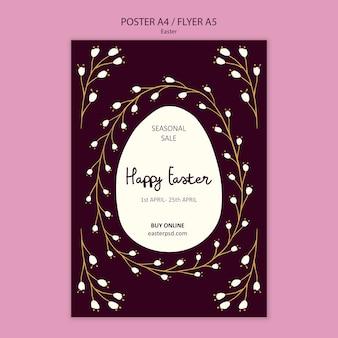 Modelo de cartaz de vendas feliz páscoa