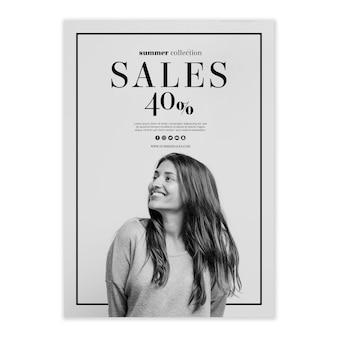 Modelo de cartaz de vendas