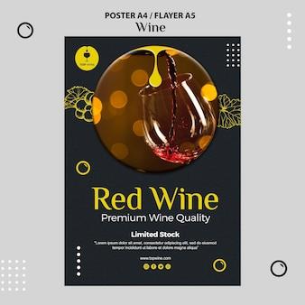 Modelo de cartaz de vinho