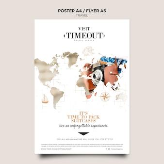Modelo de cartaz de visitas e viagens