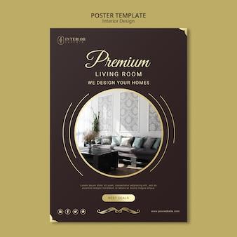 Modelo de cartaz - design de interiores
