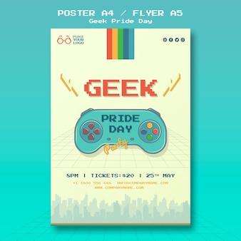 Modelo de cartaz - dia do orgulho nerd