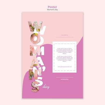 Modelo de cartaz do dia da mulher