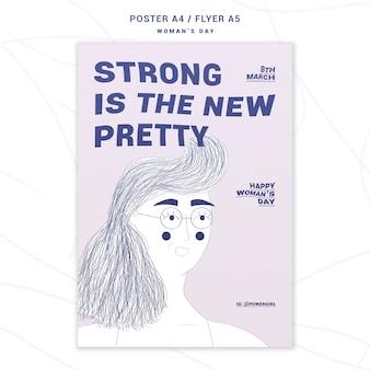Modelo de cartaz do dia das mulheres