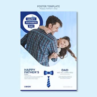 Modelo de cartaz do dia dos pais