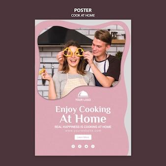 Modelo de cartaz - gosto de cozinhar em casa