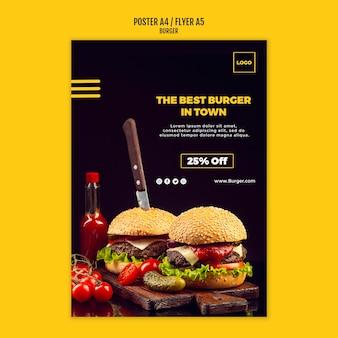 Modelo de cartaz - hambúrguer