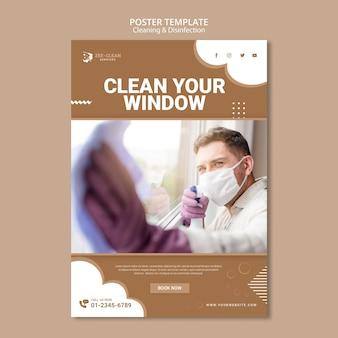 Modelo de cartaz - limpeza e desinfecção
