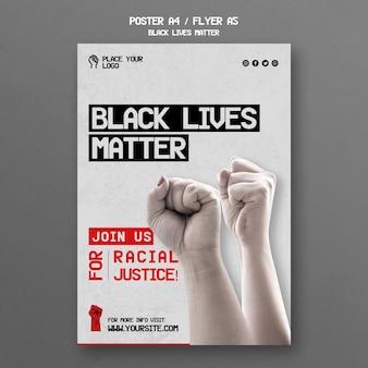 Modelo de cartaz - matéria negra de vidas