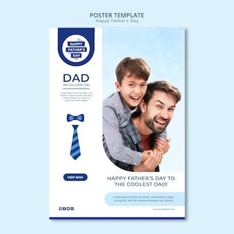 Modelo de cartaz moderno dia dos pais com foto