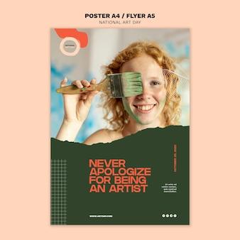 Modelo de cartaz nacional dia da arte
