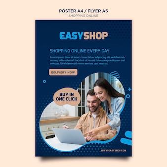 Modelo de cartaz on-line de compras