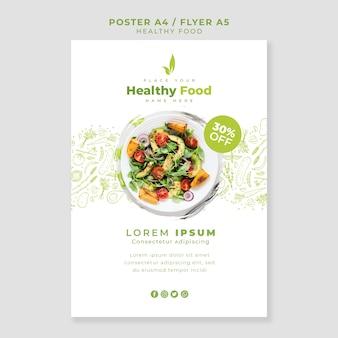 Modelo de cartaz / panfleto de restaurante