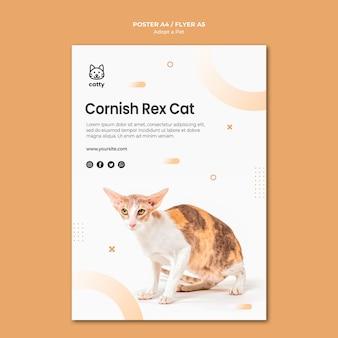 Modelo de cartaz para adotar um animal de estimação