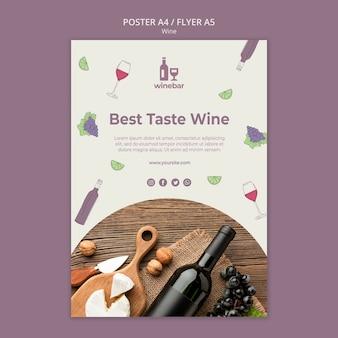 Modelo de cartaz para degustação de vinhos