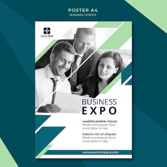 Modelo de cartaz para exposição de negócios